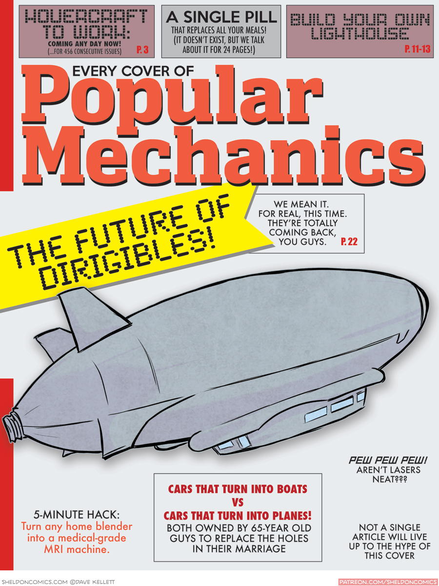 strip for May / 12 / 2016 - (Every Cover of) POPULAR MECHANICS