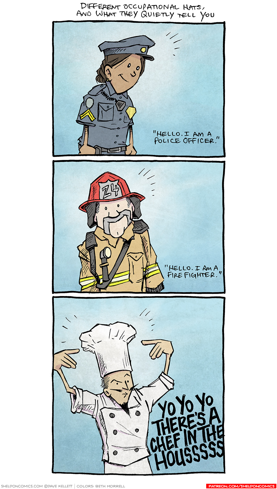 strip for December / 5 / 2016 - The Understated Hat of the Trained Chef