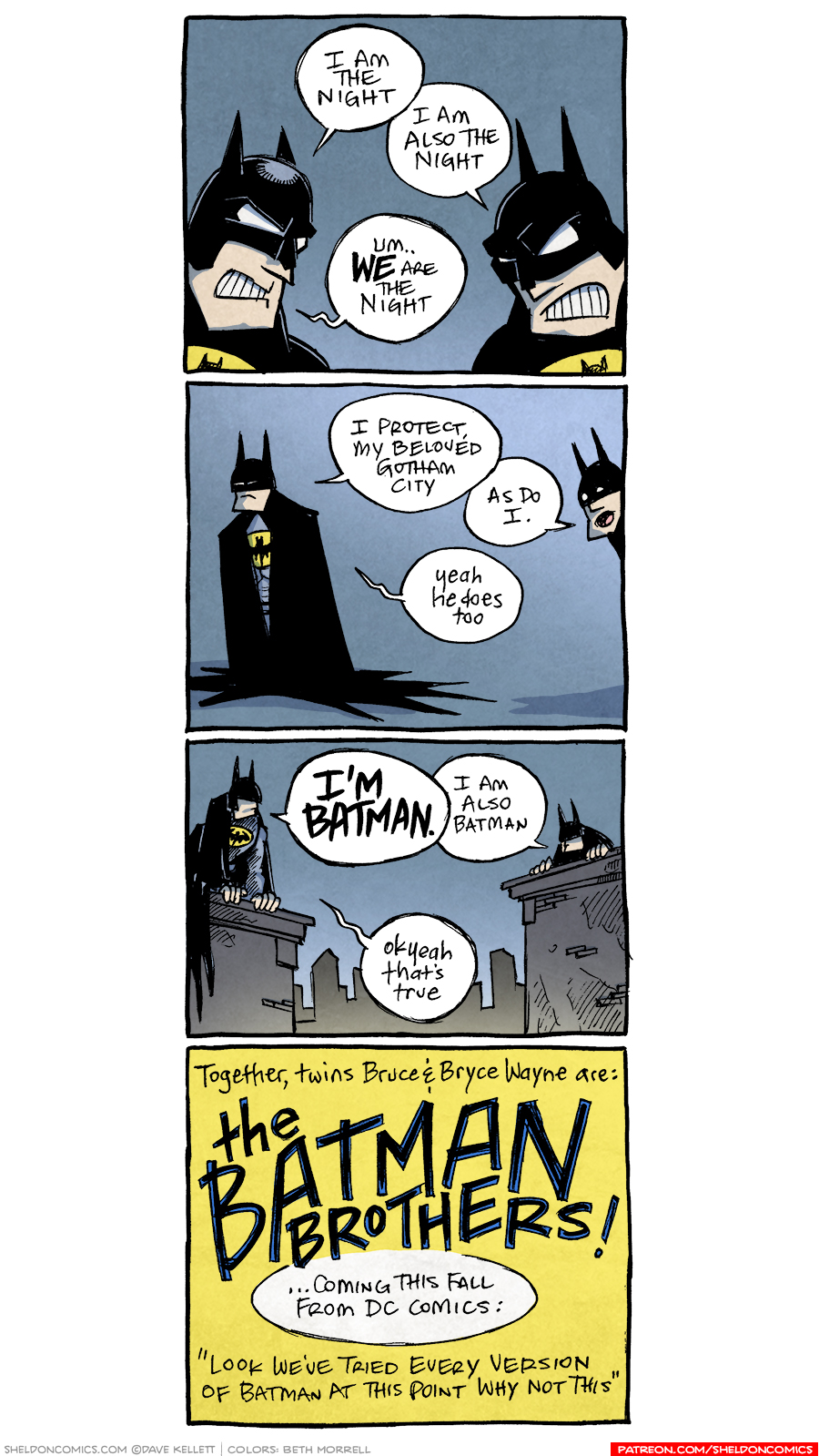 strip for September / 22 / 2017 - Batman Brothers