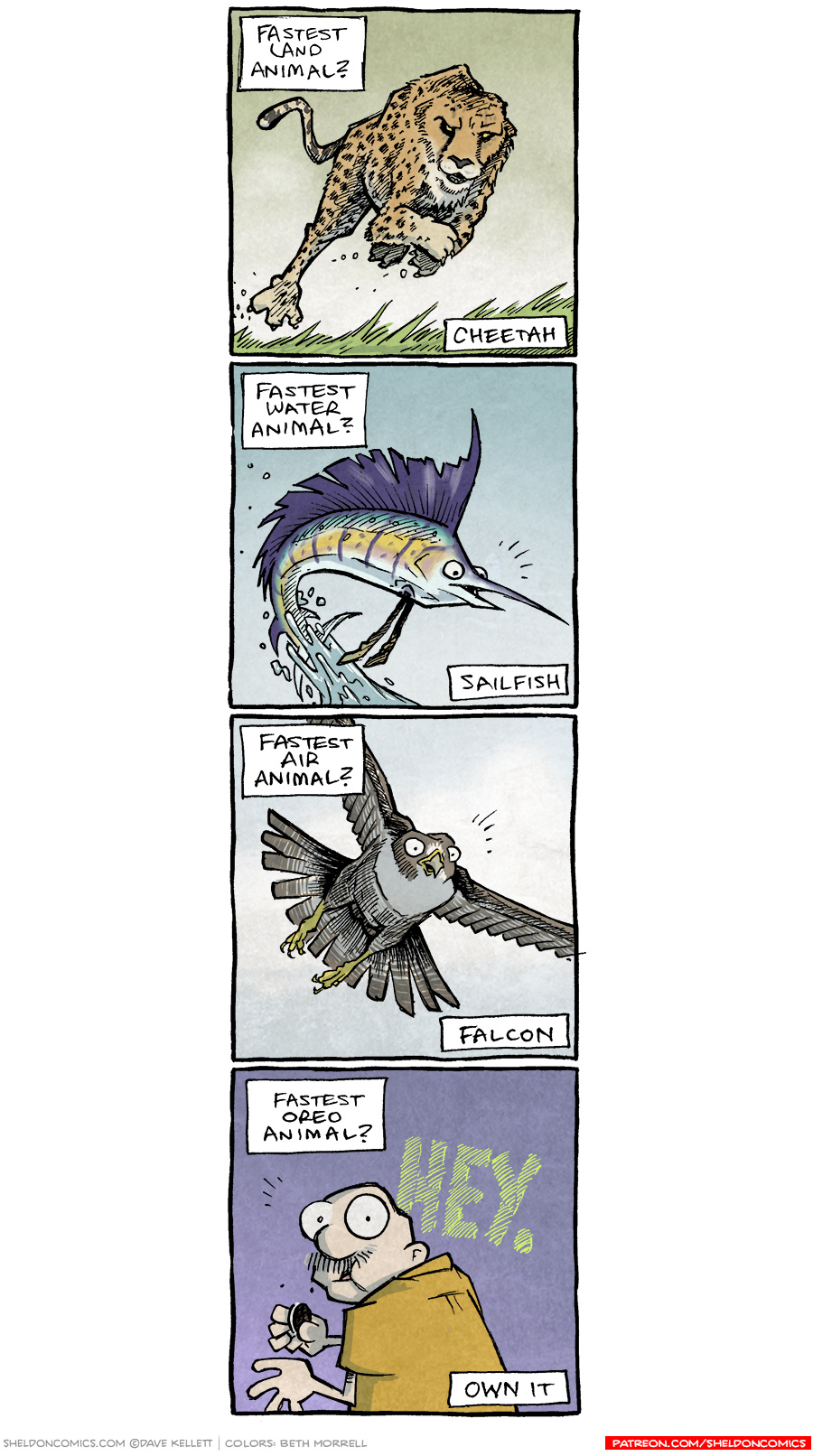 strip for October / 18 / 2017 - The Fastest Animals