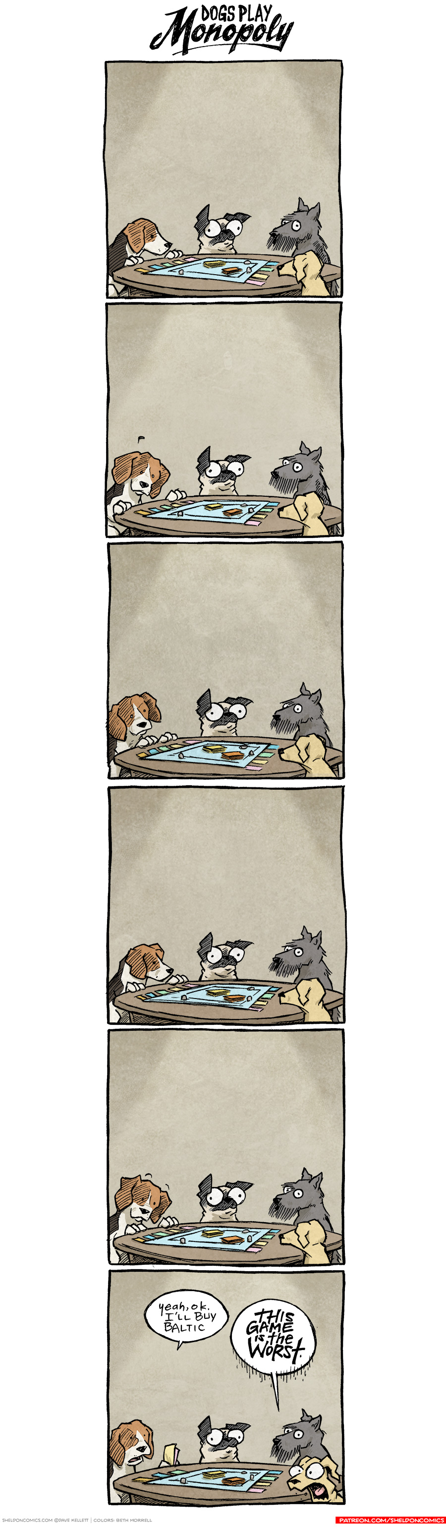 strip for November / 15 / 2017 - Dogs Play Monopoly