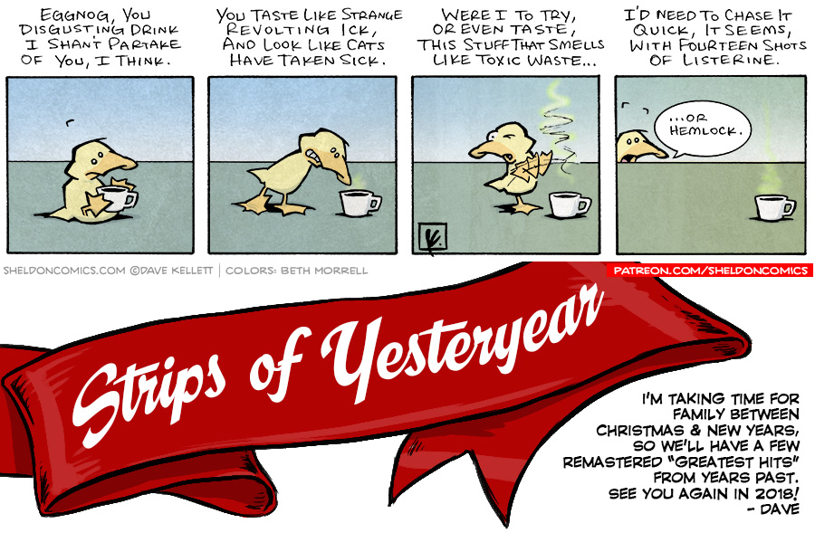 strip for December / 28 / 2017 - Strips of Yesteryear: Eggnog