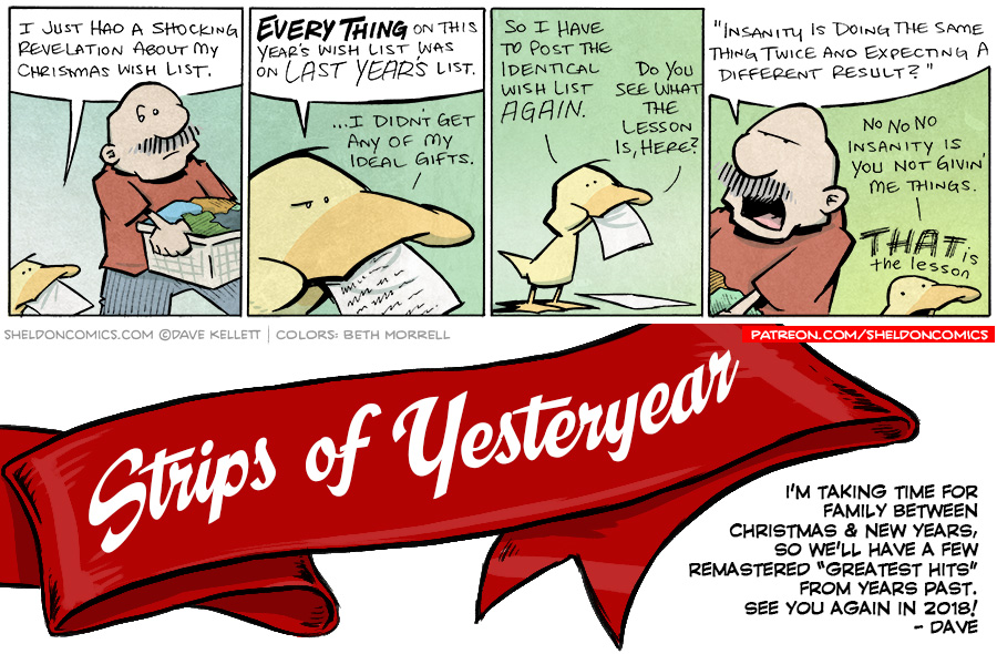 strip for December / 29 / 2017 - Strips of Yesteryear: Wishlist