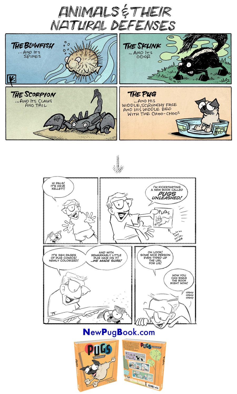 strip for February / 21 / 2018 - Animals and their Defenses