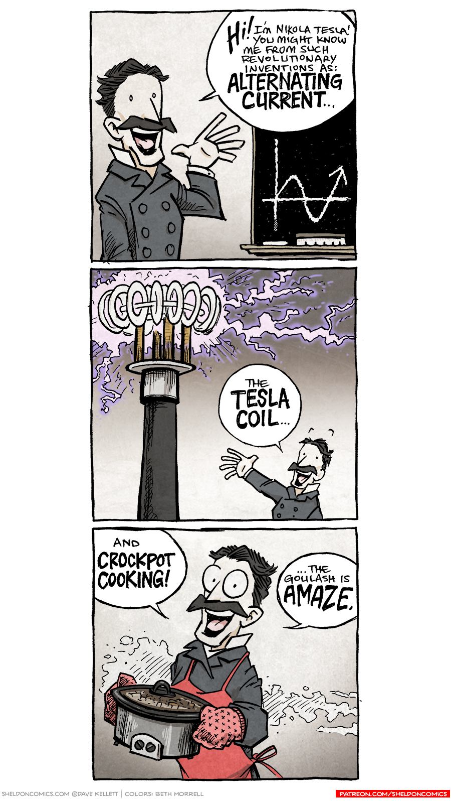 strip for April / 30 / 2018 - More of Tesla's Inventions