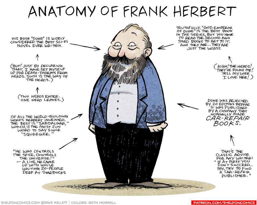 strip for August / 17 / 2018 - Anatomy of Frank Herbert