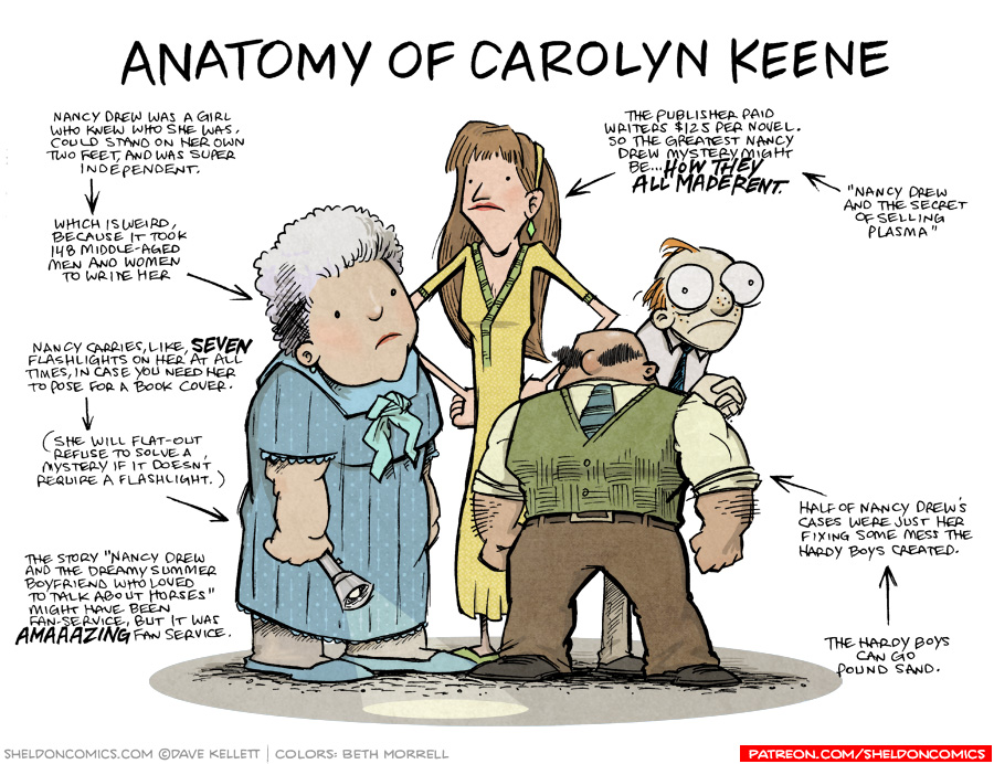 strip for August / 22 / 2018 - Anatomy of Carolyn Keene