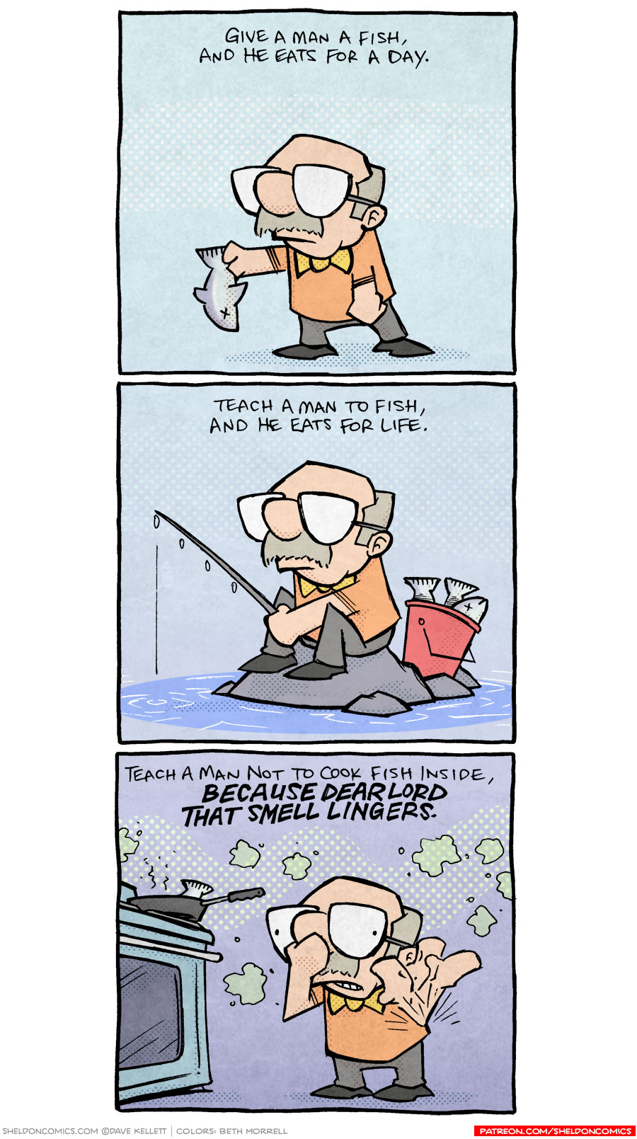 strip for October / 31 / 2018 - Teach a man to fish...