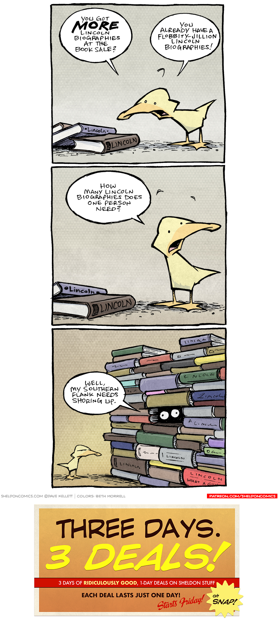 strip for November / 21 / 2018 - Library Book Sale Part 5
