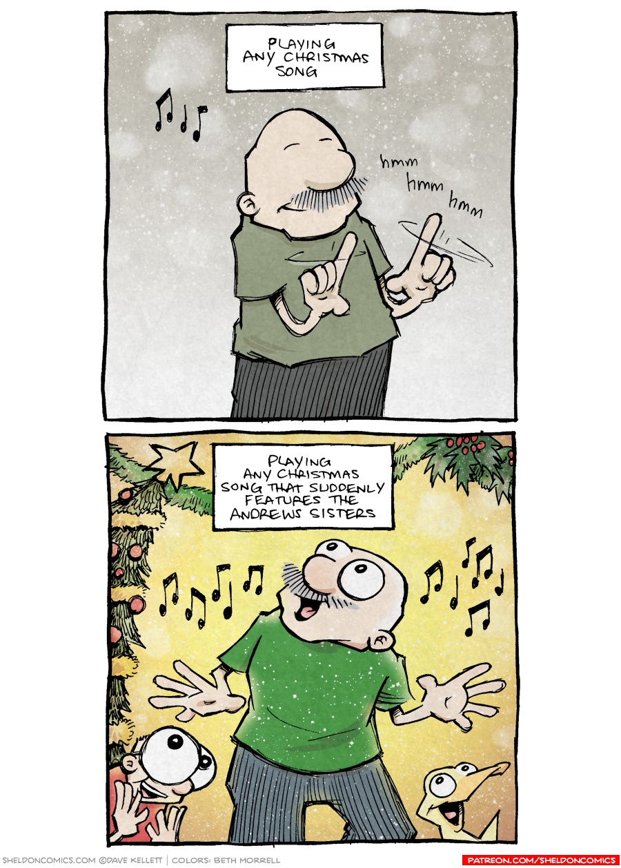 strip for December / 10 / 2018 - Comparing Christmas Songs