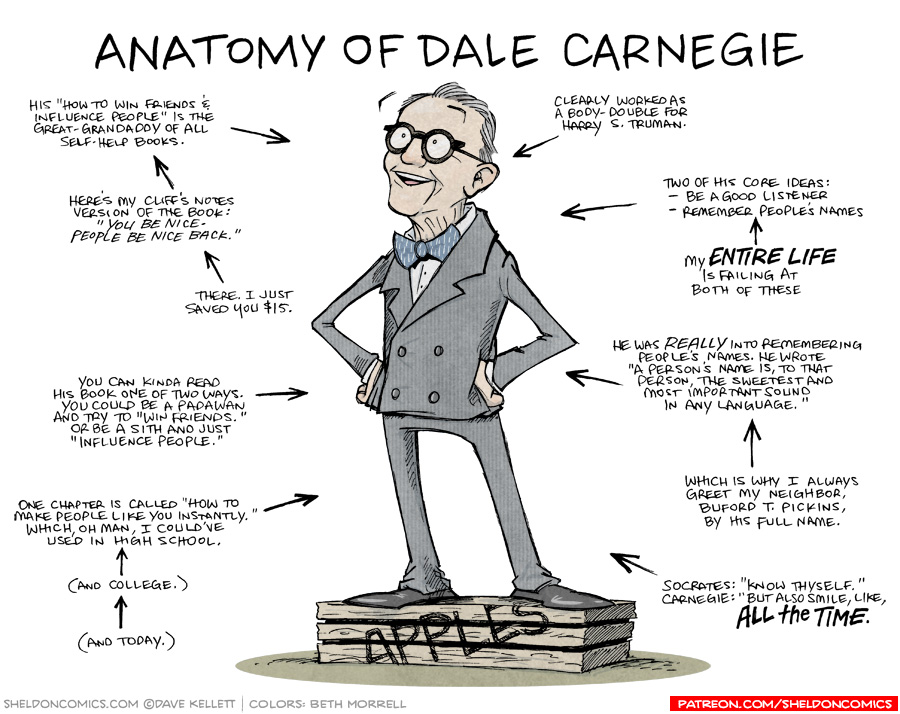 strip for December / 14 / 2018 - Anatomy of Dale Carnegie