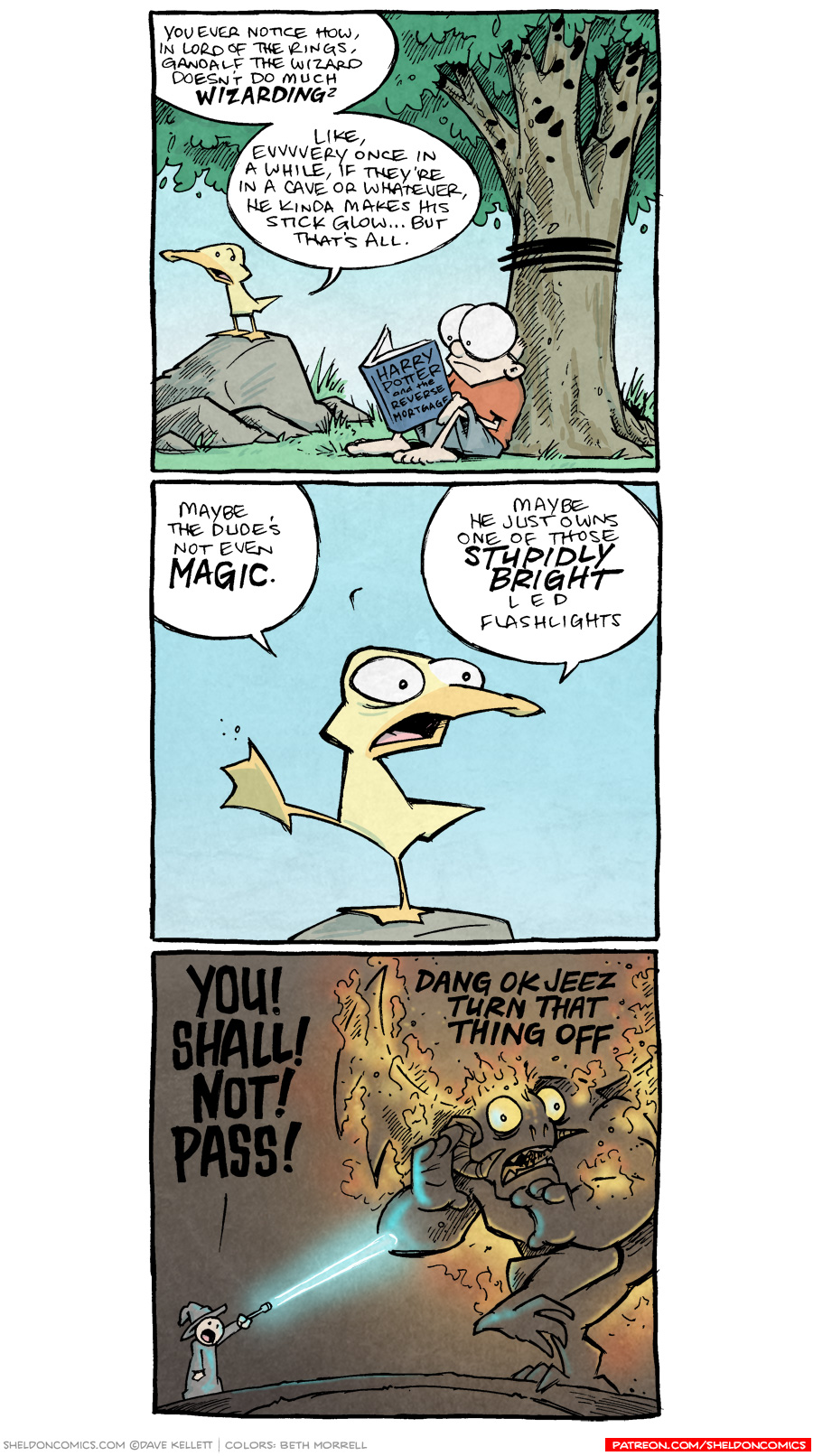 strip for December / 19 / 2018 - You thought Gandalf was a wizard?