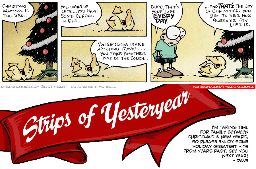 strip for January / 1 / 2019 - Christmas Vacation