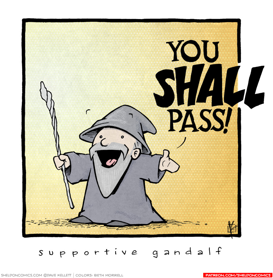 strip for January / 4 / 2019 - Supportive Gandalf