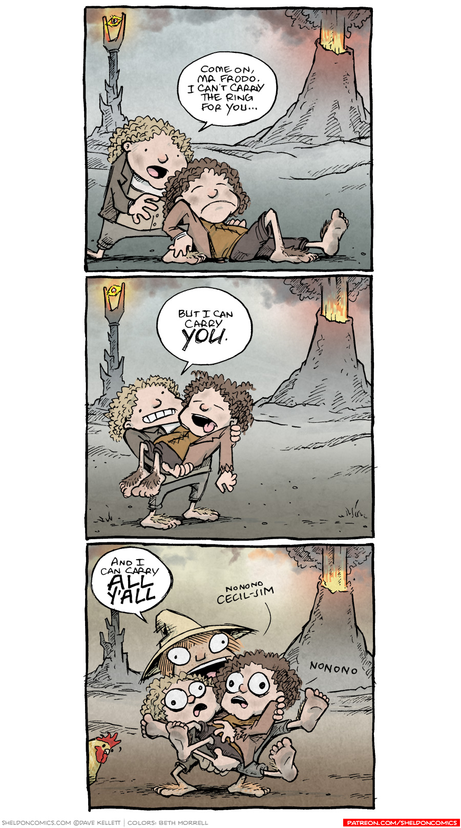 strip for January / 30 / 2019 - That's a wrap on Cecil-Jim Baggins