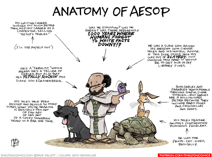 strip for May / 10 / 2019 - Anatomy of Aesop