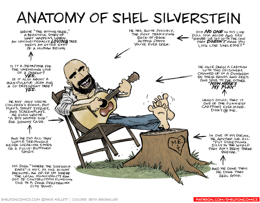 strip for May / 17 / 2019 - Anatomy of Shel Silverstein