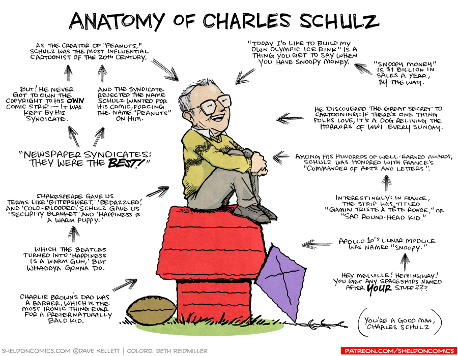 strip for July / 16 / 2019 - Anatomy of Charles Schulz