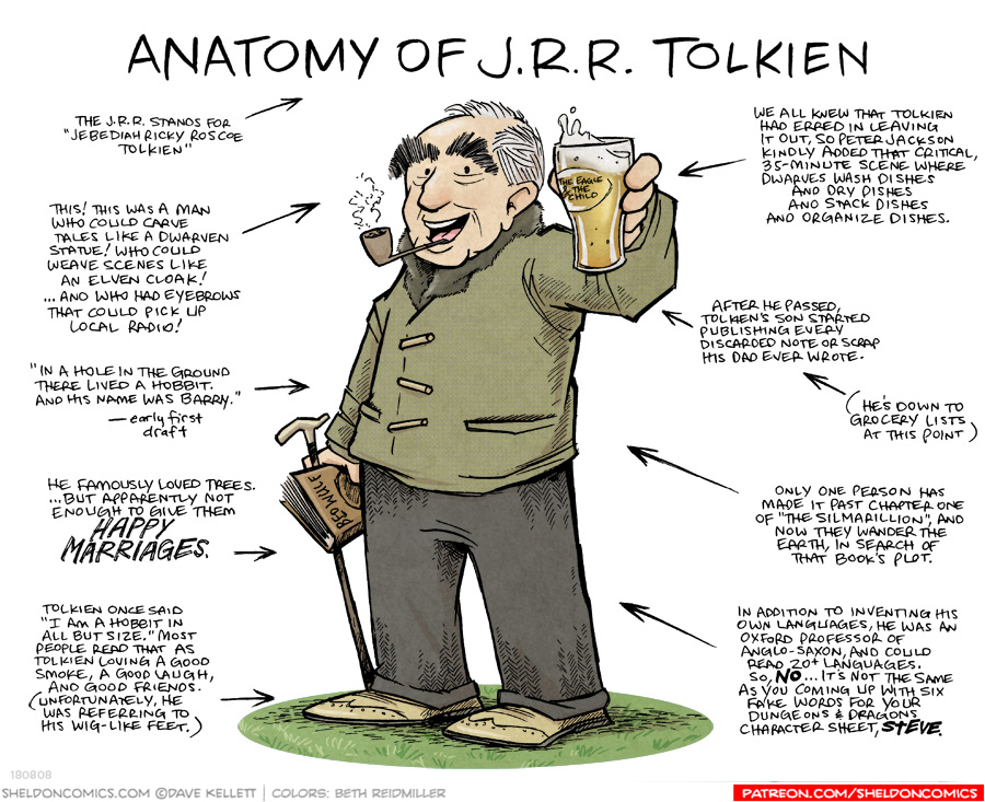 strip for September / 7 / 2019 - Anatomy of J.R.R. Tolkein