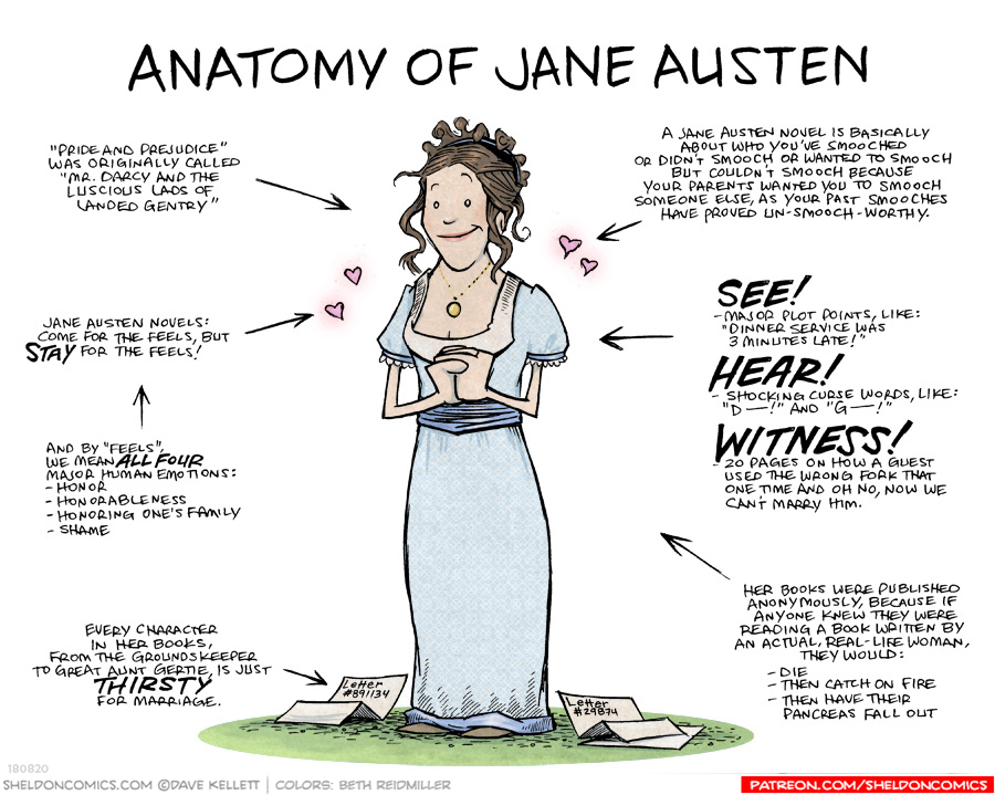strip for September / 11 / 2019 - Anatomy of Jane Austen