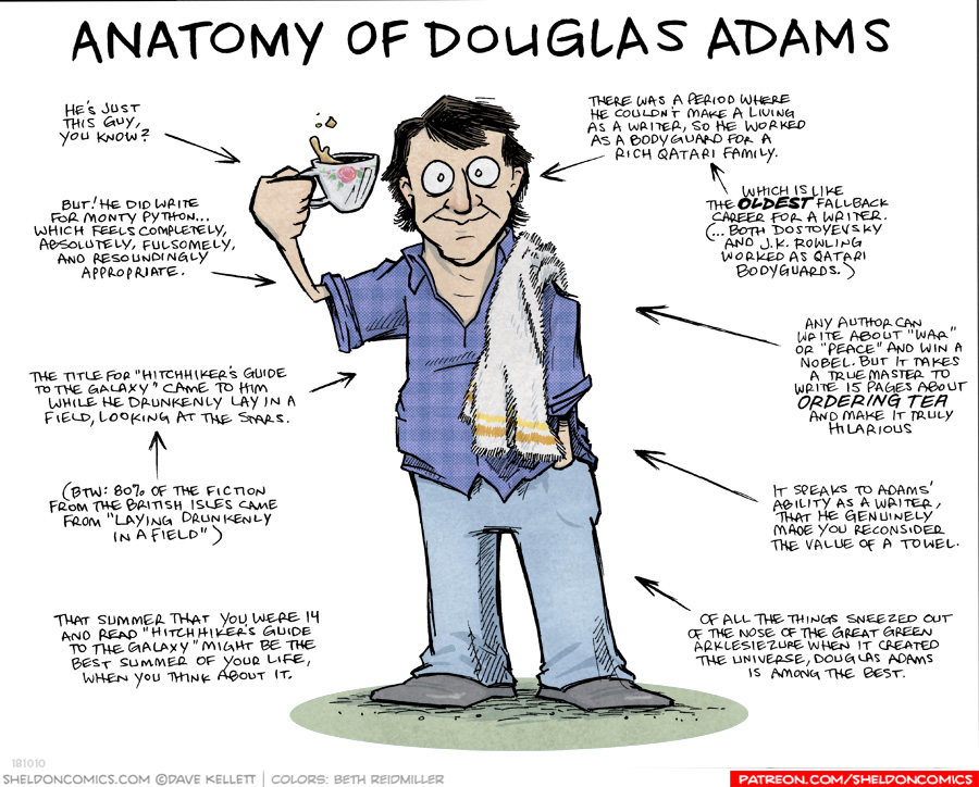 strip for September / 15 / 2019 - Anatomy of Douglas Adams