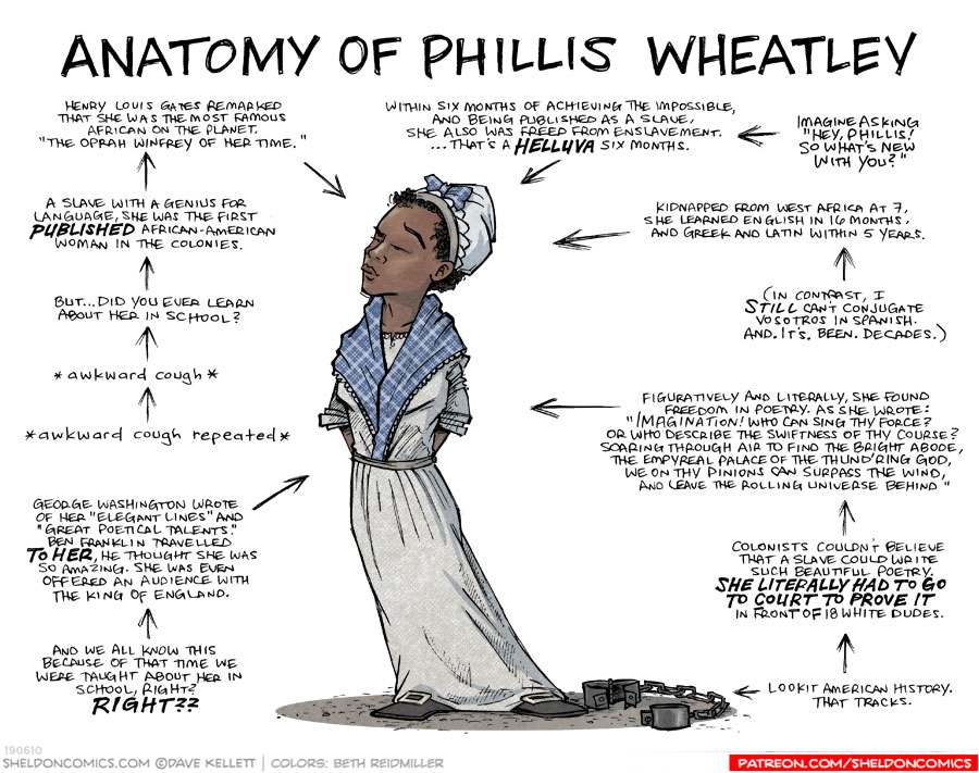 strip for September / 22 / 2019 - Anatomy of Phillis Wheatley