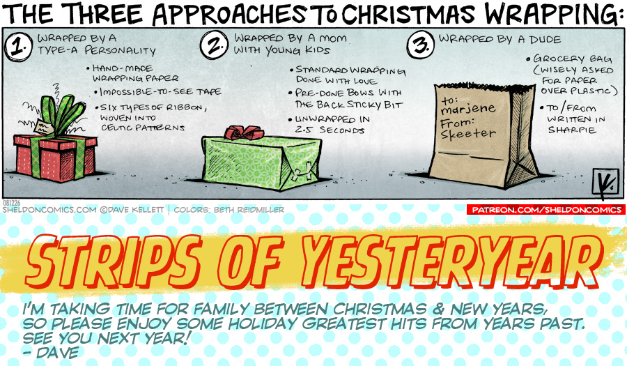 strip for December / 27 / 2019 - Gift Wrapping