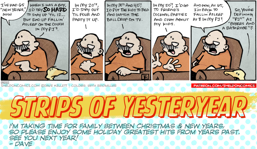 strip for January / 1 / 2020 - Happy New Year