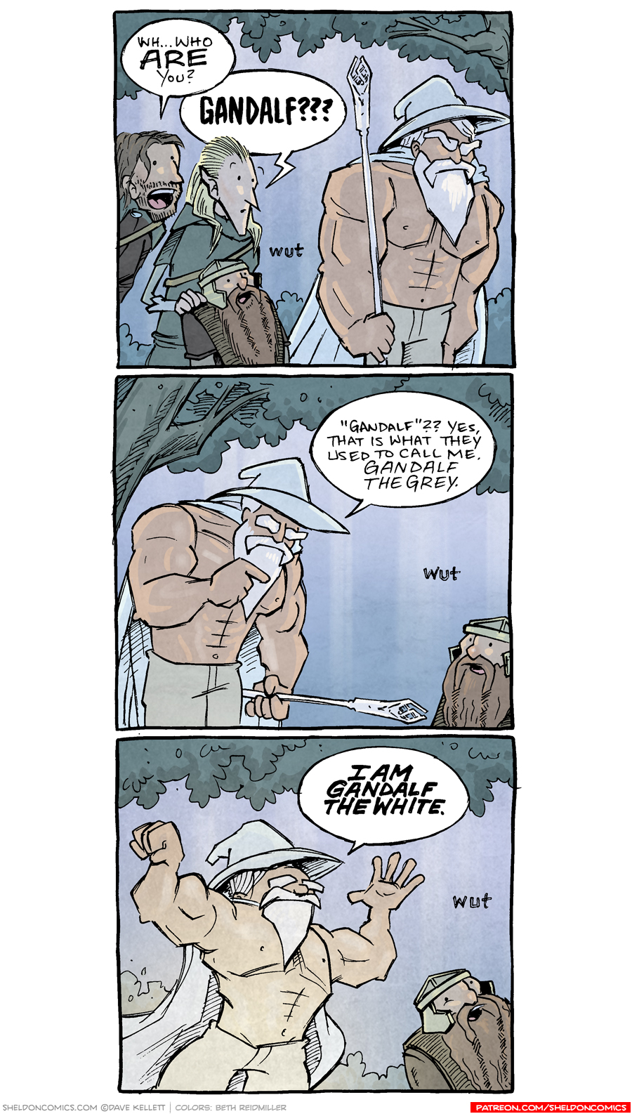 strip for February / 7 / 2020 - Gandalf the Swol