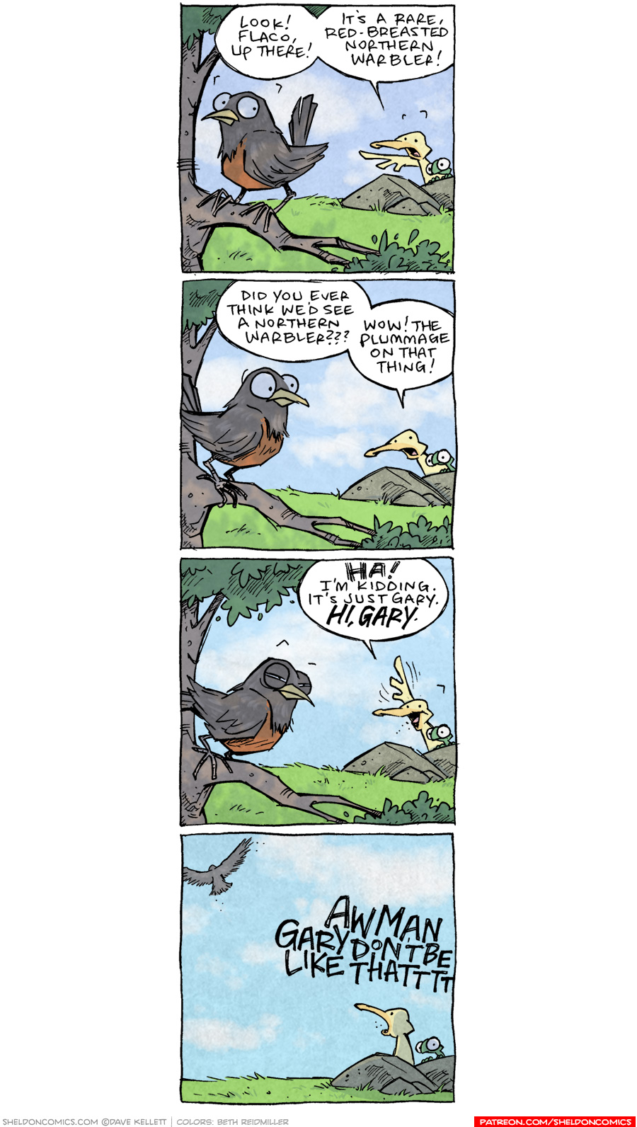 strip for May / 28 / 2020 - Red-Breasted Northern Warbler
