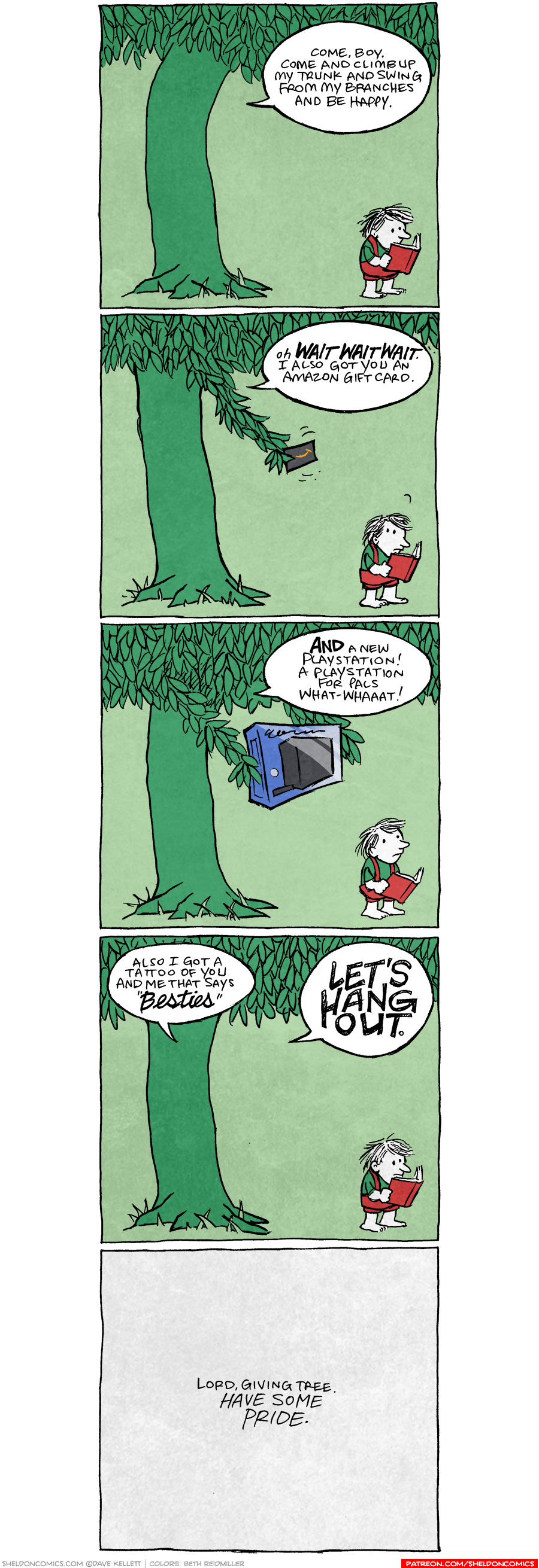 strip for July / 30 / 2020 - The Giving Tree