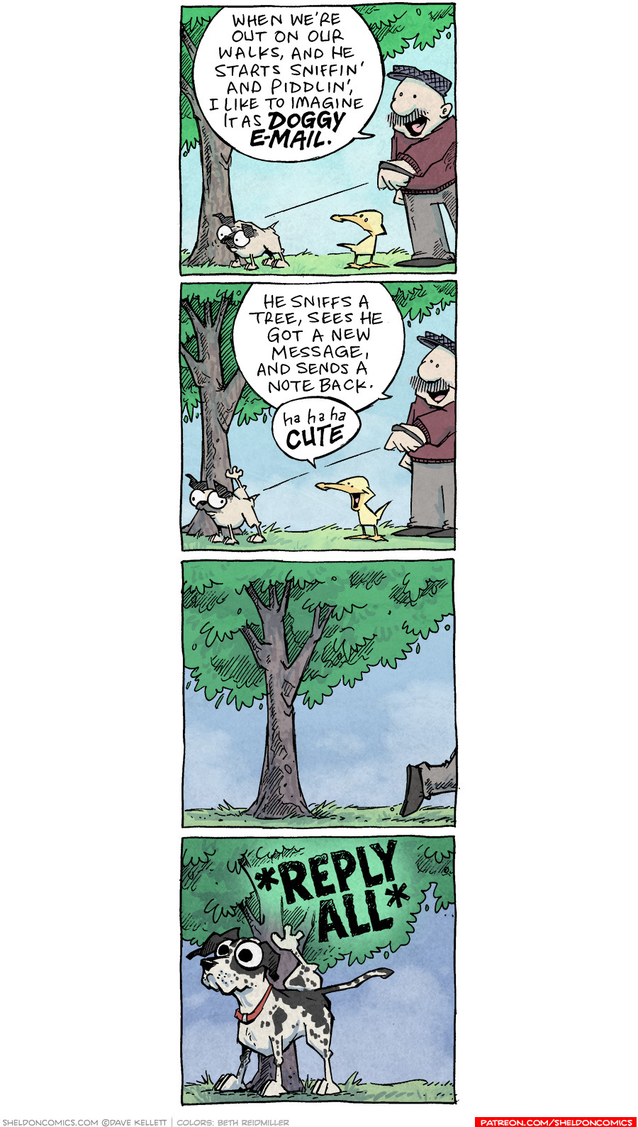 strip for August / 26 / 2020 - Dog E-Mail