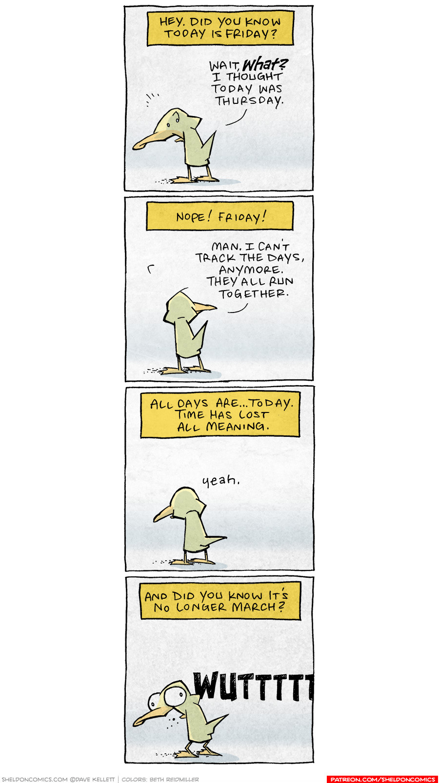 strip for August / 28 / 2020 - Did you know it's Friday?