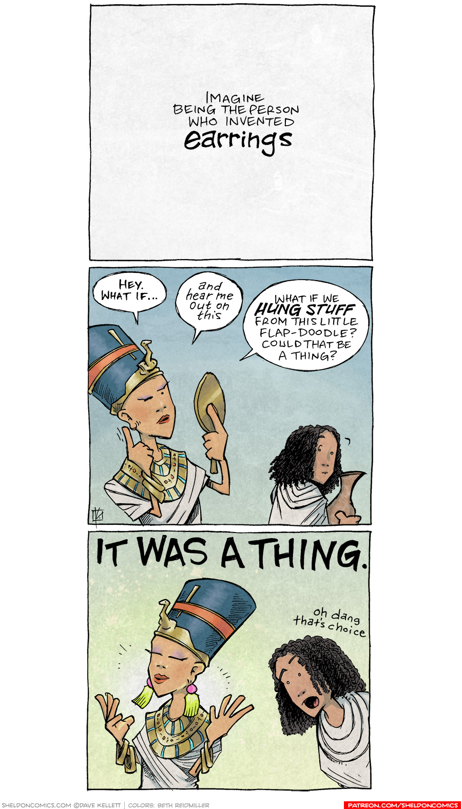 strip for October / 8 / 2020 - The Origin of Earrings