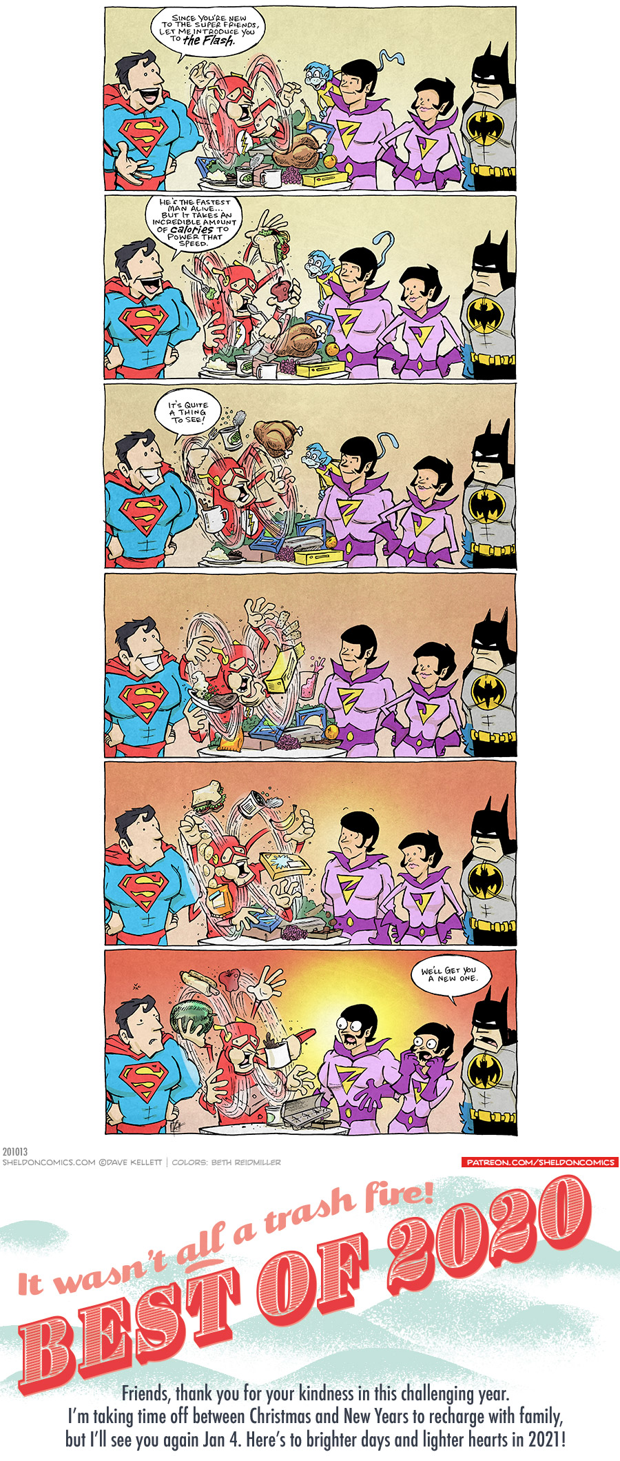 strip for December / 31 / 2020 - Best of 2020: JUSTICE LEAGUE