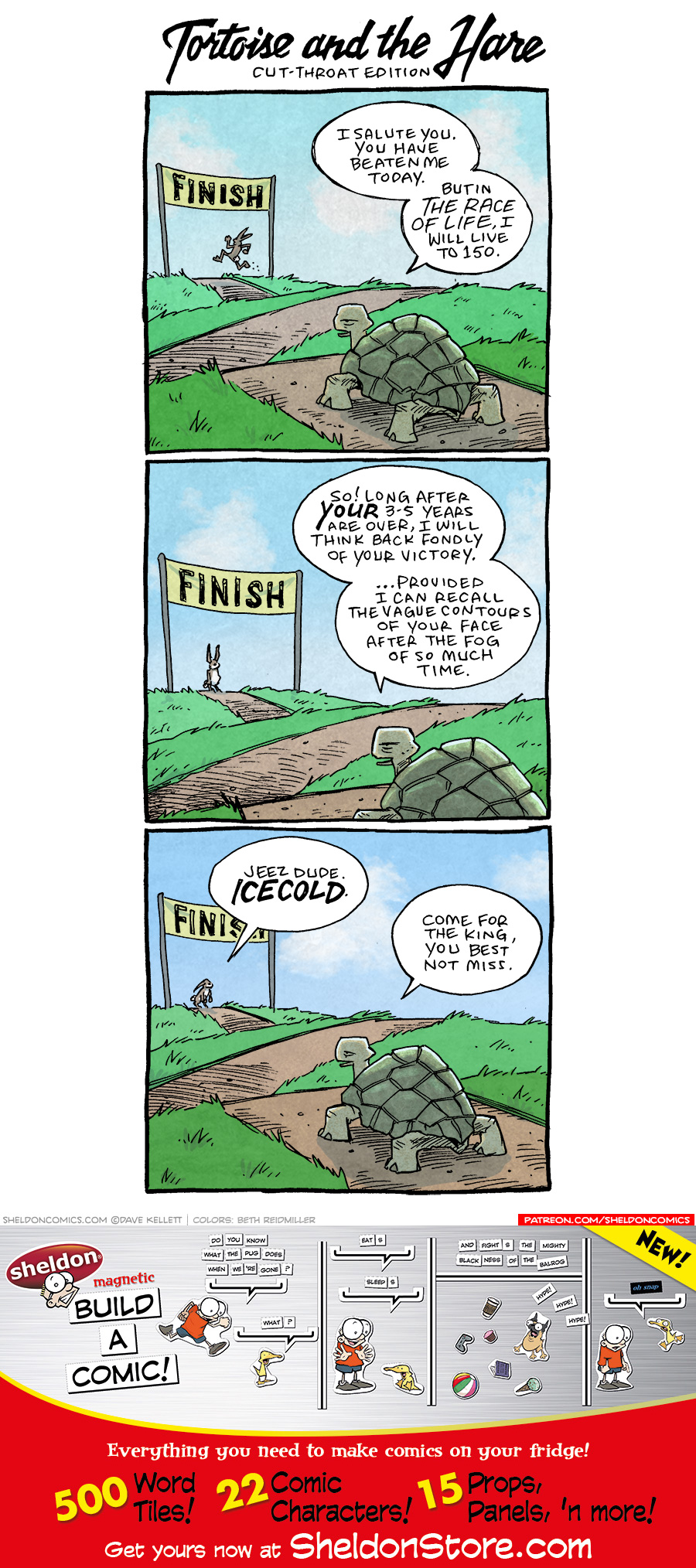 strip for March / 26 / 2021 - Tortoise and the Hare