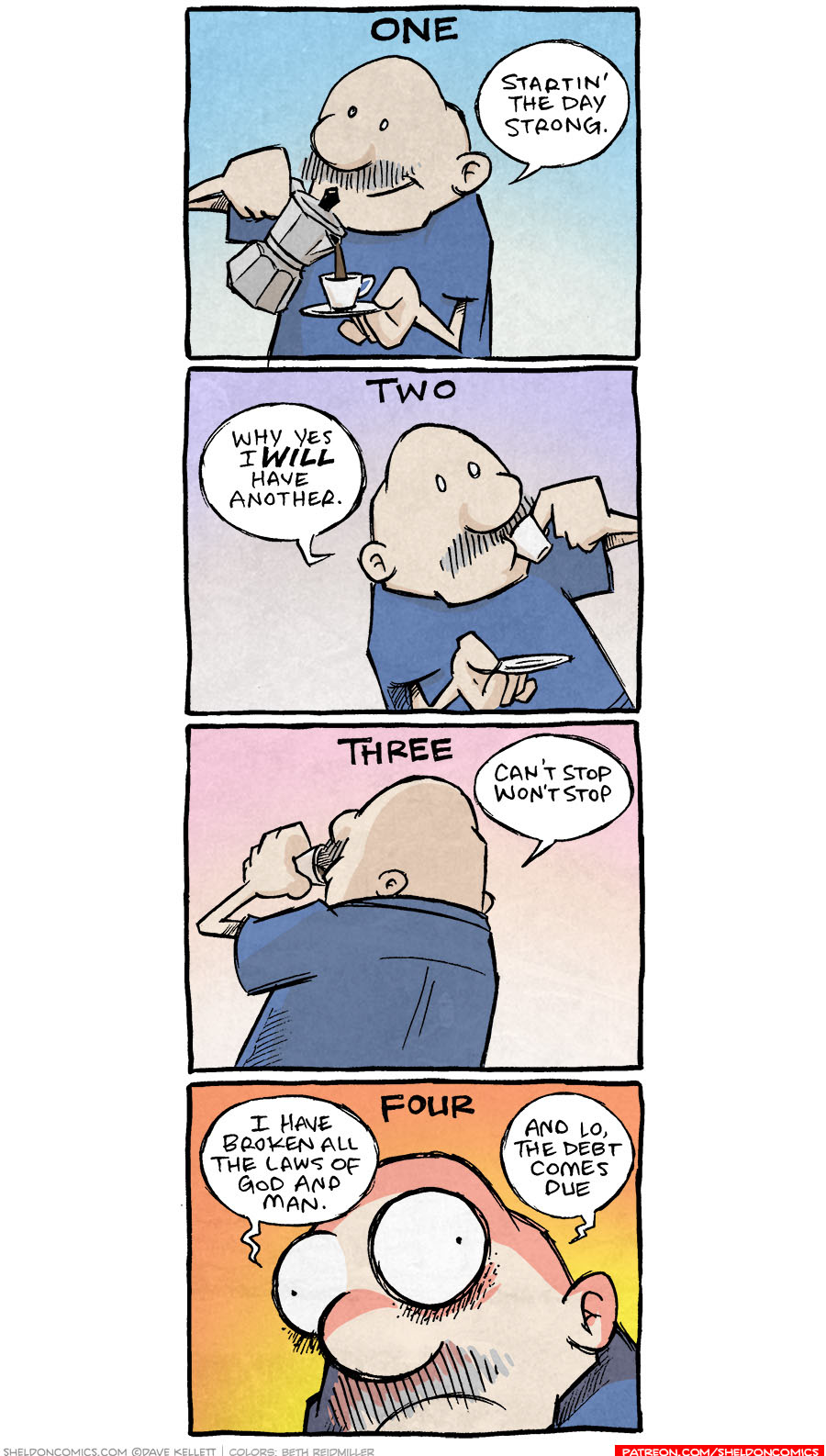 strip for July / 9 / 2021 - Starting the day strong!
