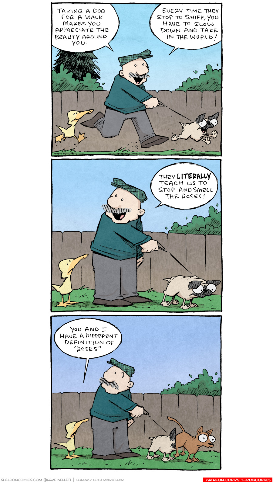 strip for October / 7 / 2021 - Stop and smell the...